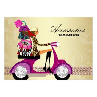 Mode-Accessoire-Geldbeutel-Schmuck-Rosa-Gold Visitenkarten Vorlage