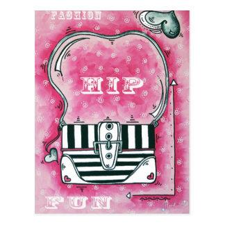 Mode, angesagt, Spaß-Postkarte Postkarte