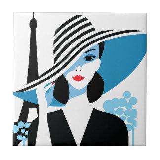 Mode-Chicillustration der Mode französische Keramikfliese