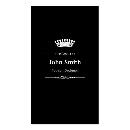 Mode-Designer-elegantes königliches Schwarz-weißes Visitenkarten Vorlage