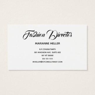 Mode-Direktor in Vintagem Schwarzweiss Visitenkarte