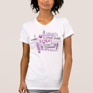 Mode fasst den T - Shirt der Umbau-Wolken-Frau ab