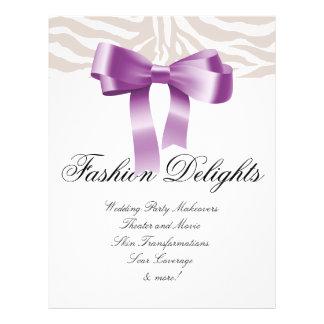 Mode-Flyerzebra-Bogen-Einzelhandels-Salon-Butike Bedruckte Flyer