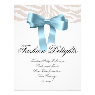 Mode-Flyerzebra-Bogen-Einzelhandels-Salon-Butike Vollfarbige Flyer