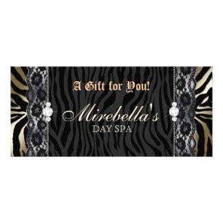 Mode-Geschenkgutscheinzebra-Spitze-Gold Kartendruck