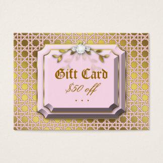 Mode-Gitter-Blatt-Schmuck-Geschenk-Karte Visitenkarte