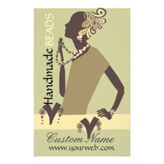 Mode-Juwel-Modell-moderne Frauen-Perle 14 X 21,6 Cm Flyer