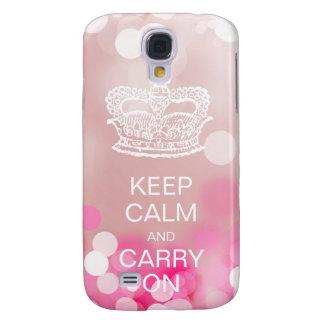 Mode-Krone behalten Ruhe und machen rosa Lichter Galaxy S4 Hülle