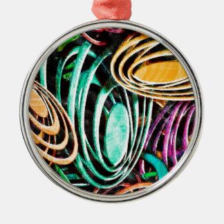 Mode-Kunst-fester glänzender königlicher reicher Silbernes Ornament