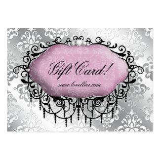 Mode-Leuchter-Schmuck-Damast-Muster Mini-Visitenkarten