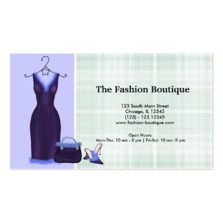 Mode (lila) visitenkarten vorlage
