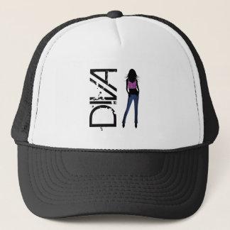 Mode-Mädchen, die vorbildlichen Diva-Blue Truckerkappe