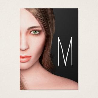 Mode-Mädchen-Monogramm Visitenkarte