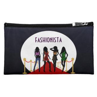 Mode-Mädchen-roter Teppich-Veloursleder-mittlere Kosmetiktasche