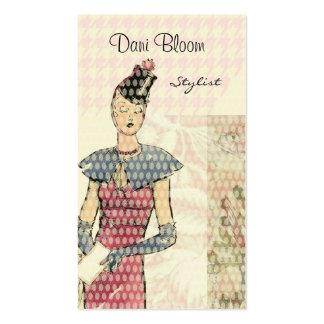Mode oder Stylist-extravagante Visitenkarten Vorlagen