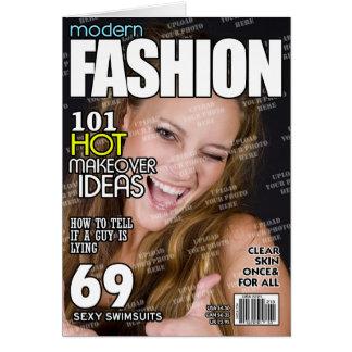 Mode-personalisiertes Titelseite Karte