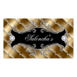 Mode-Schmuck-Maskenbildner-eleganter büscheliger Visitenkarten Vorlage