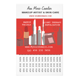 Mode-Schönheits-Maskenbildner-Geschäft Personalisierte Flyer
