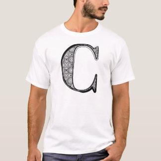Mode-Schriftart, Buchstabe C T-Shirt