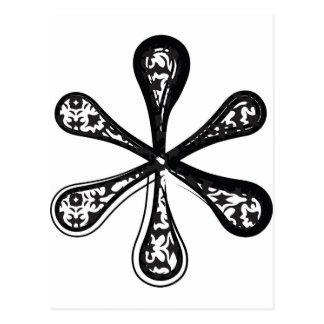 Mode-Schriftart, Symbol * Postkarte
