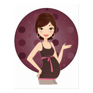 Mode schwanger postkarten