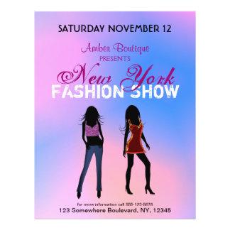 Mode-Show-Butike-fördernde kundenspezifische Flyer