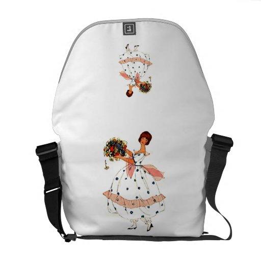 Mode-Spitze-Kleiderkunst-Rickshaw-Bote-Tasche Kuriertaschen