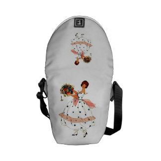 Mode-Spitze-Kleiderkunst-Rickshaw-Minibote-Tasche Kuriertaschen
