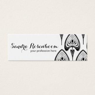 Mode-Stylist-Designerkunst nouveau Muster Mini Visitenkarte