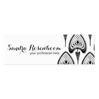 Mode-Stylist-Designerkunst nouveau Muster Mini-Visitenkarten