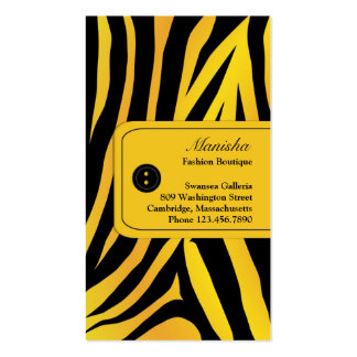 Mode-Tiger Stripes Visitenkarte