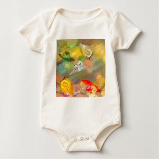 Mode und Hüte mit Blumen Baby Strampler