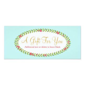 Mode-und Schönheits-Feriengeschenk-Zertifikat 10,2 X 23,5 Cm Einladungskarte
