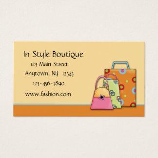 Mode-Visitenkarte Visitenkarte