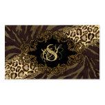 Mode-Visitenkartentierzebra-Veloursleder-Leopard Visitenkarten Vorlage