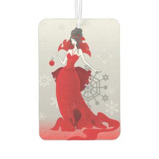 Mode-Weihnachtsstilvolle rote graue Illustration Autolufterfrischer