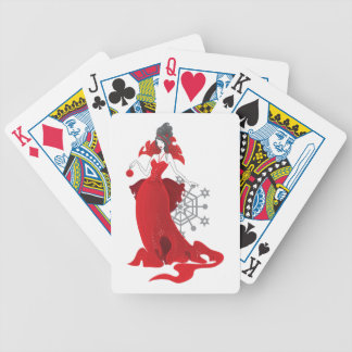 Mode-Weihnachtsstilvolle rote graue Illustration Bicycle Spielkarten