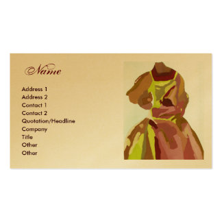 """Modedesigner-"" goldenes Brown-Kleid Visitenkarten"