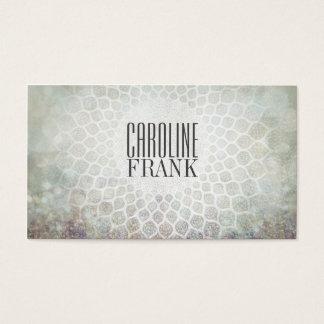 Modedesigner-Grau tont Mandala-Visitenkarte Visitenkarte