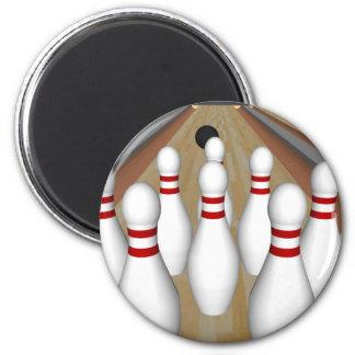 Modell 3D: Bowlings-Buttone auf Weg: Runder Magnet 5,7 Cm