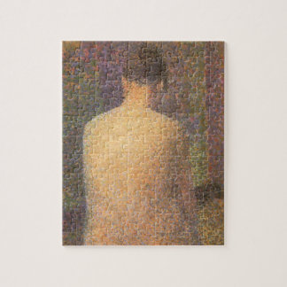 Modell von hinten durch Georges Seurat, Vintage Puzzle