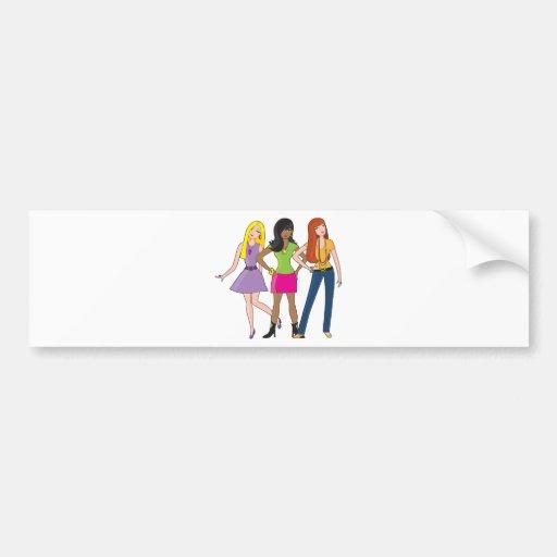 Modemädchen Auto Sticker