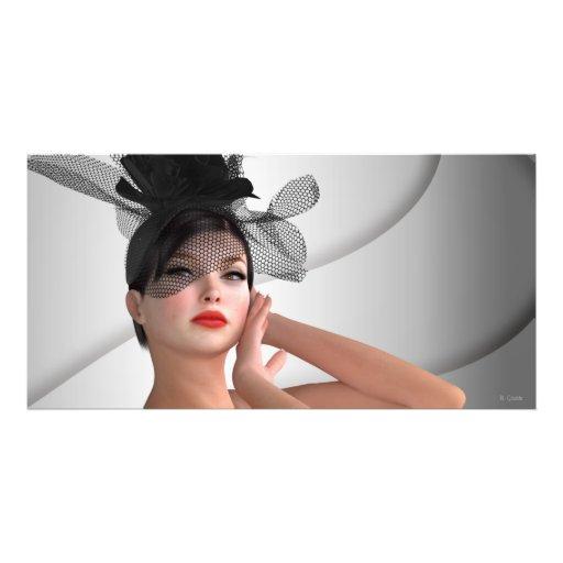 Modemädchen Photodruck