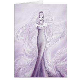 Modemädchen Grußkarte