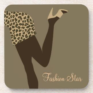 Modemädchen Korken-Untersetzer