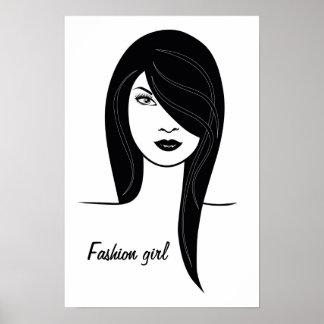 """Modemädchen"" Plakat"