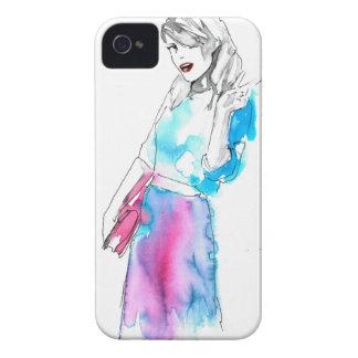 Modemädchen-Skizzeentwurf iPhone 4 Hülle