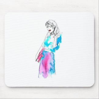 Modemädchen-Skizzeentwurf Mousepad
