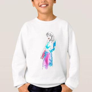 Modemädchen-Skizzeentwurf Sweatshirt