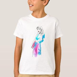 Modemädchen-Skizzeentwurf T-Shirt